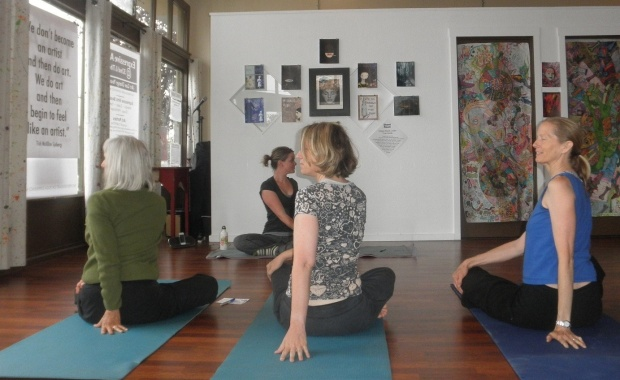 One of my first classes. Lovely Ladies breathing and flowing :)